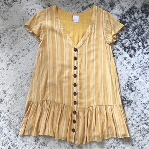 Vici Striped Yellow Dress